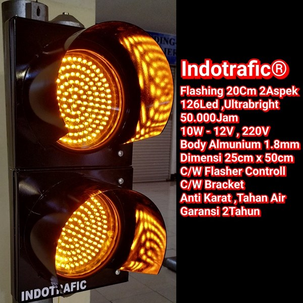 Lampu Traffic Light Flashing 20cm