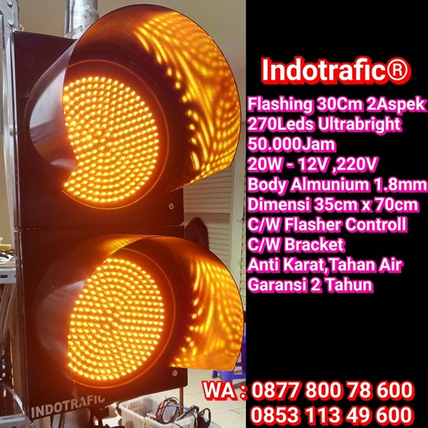 Lampu Traffic Light Flashing 30cm