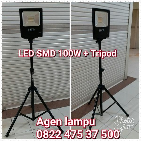 Stand Lampu Tripod Plus LED 100W