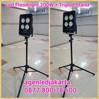 Stand Lampu Tripod PLus LED 200W