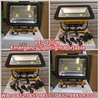 Lampu Emergency LED 100W Portabel
