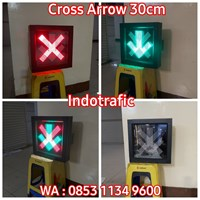 Lampu Traffic Light LLA LED 30cm Cross Arrow