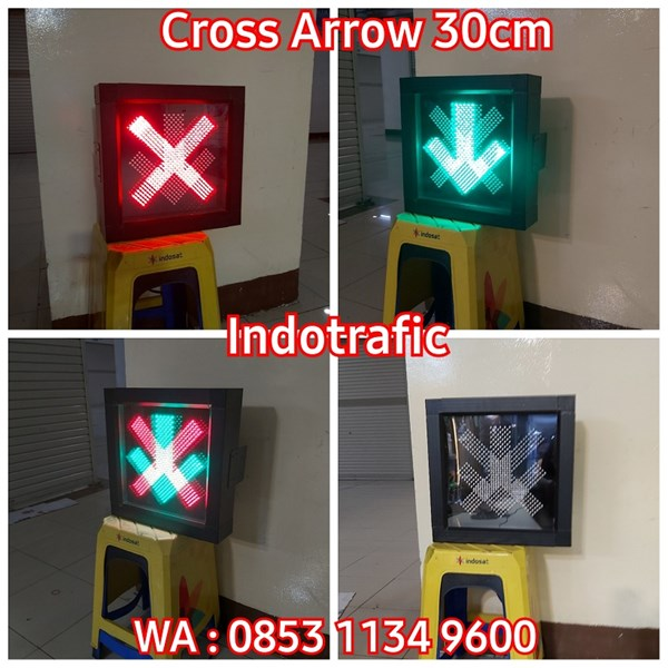 Lampu Traffic Light LLA LED 30cm Cross Arrow