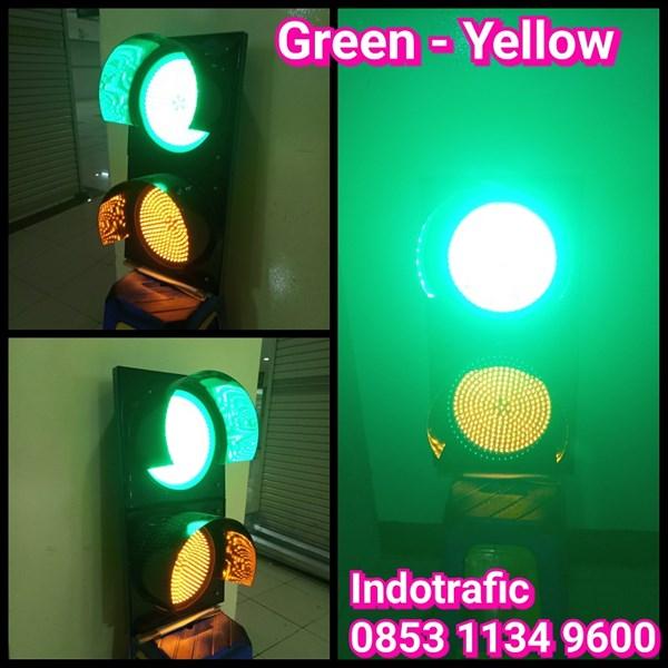 Lampu Traffic Light  Green Yellow