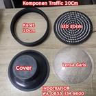 Lampu Traffic Light Modul 20cm Kaca Garis 1