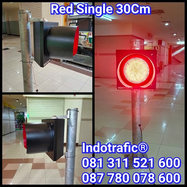 Lampu Traffic Light 30cm Merah