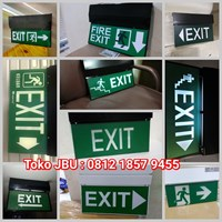 Lampu TL Exit Emergency Model Gantung 2 Sisi