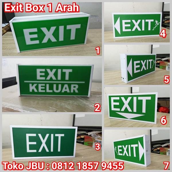 Lampu TL Exit Emergency Model Box