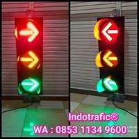 Lampu Traffic Light 3 Aspek Gambar Panah