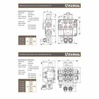 Jual Nucleo PC100 Hand Directional Control Manual Valve Hidrolik 2
