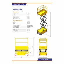 Mobile Portable Scissor Table Lift Hidrolik - SCL3000