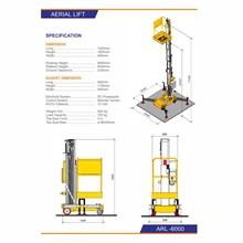Mobile Portable Aerial Table Lift Hidrolik - ARL-6000
