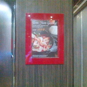 Display Menu Restoran Acrylic