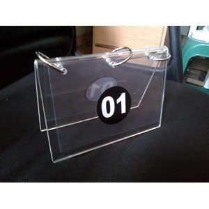 Acrylic Display Nomer Urut
