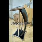 Podium stainless steel & kayu P26 1