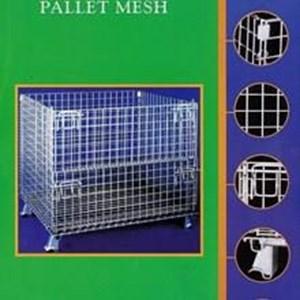 Dari pallet mesh stocky 7  dalton pallet lipat sumo  keranjang besi. 0