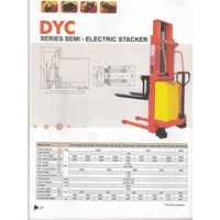 Jual stacker semi electric DYC  10.16 15.16  20.20 AC 2