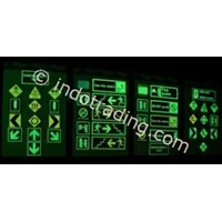 Safety Sign Evacuation Signage  Glow In The Dark Photo Luminescent  1