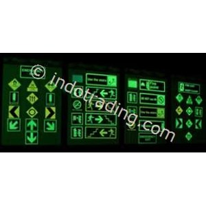 Safety Sign Evacuation Signage  Glow In The Dark Photo Luminescent