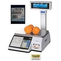 Jual Timbangan Printer Label CAS CL-5200 15kg 30kg Murah Bergaransi 2thn 2
