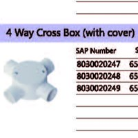 4 Way Cross Box (With Cover) PVC Conduit Merk Lesso