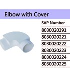 Elbow With Cover PVC Conduit Merk Lesso 1