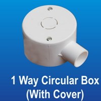 1 Way Terminal Box (With Cover) PVC Conduit Merk Lesso