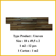 Wood Wall Panel  3D Uneven