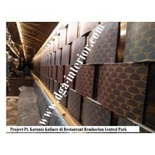 Wallpaper Custom Dinding Motif Kipas