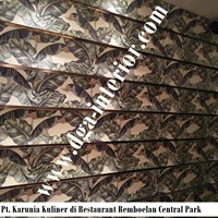 Wallpaper Custom Motif Daun Untuk Dinding
