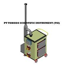 Jual Mesin Incinerator CAP INCINERATOR PORTABEL. 008 m3 batch Double Burner dengan Scrubber 3 kg