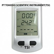 Surabaya Jual Termometer Ruangan-Wireless Rain Gauge With Temperature  and 2.7 LCD WRG
