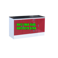 Meja Lab Rapat Dinding/ Wall Bench Polos Type I (Type i) (Lemari Asam)