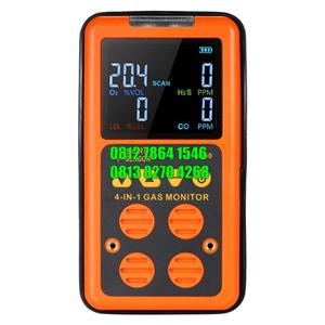 Alat Uji Multi Gas Detektor Monitor ST8900 4 in 1 Detektor Gas