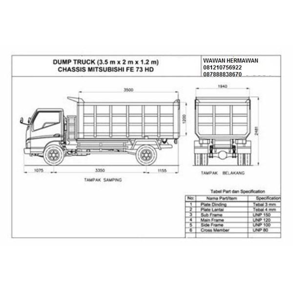 jasa karoseri dump truck oleh pt punitama anugrah mandiri
