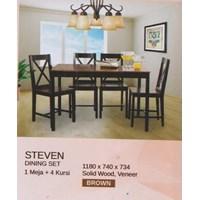 Jual Meja Makan Vittorio Steven Set