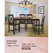 Meja Makan Vittorio Steven Set