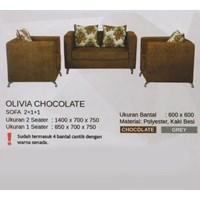 Sofa Vittorio Olivia Chocolate 1