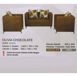 Sofa Vittorio Olivia Chocolate
