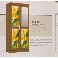 Lemari Pakaian Vittorio Linea Tulip Series 2P