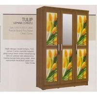 Lemari Pakaian Vittorio Linea Tulip Series 3P