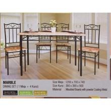Meja Makan Vittorio Marble Set