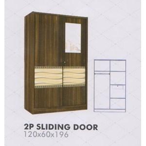 Lemari Pakaian Melody Amarillo Series 2P Sliding Door