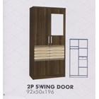 Selling Wardrobe Clothes Melody Amarillo Series 2P Swing Door