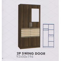 Lemari Pakaian Melody Amarillo Series 2P Swing Door 1