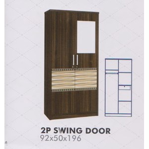 Lemari Pakaian Melody Amarillo Series 2P Swing Door