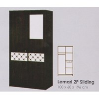 Lemari Pakaian Melody Coltello Series 2P Sliding Door