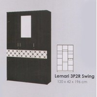 Lemari Pakaian Melody Coltello Series 3P2R Swing