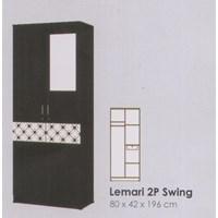 Jual Lemari Pakaian Melody Coltello Series 2P Swing