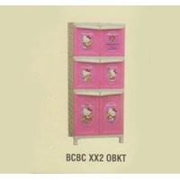 Lemari Plastik Napolly BCBC XX2 OBKT 1